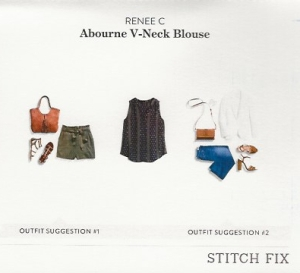 Renee C print blouse